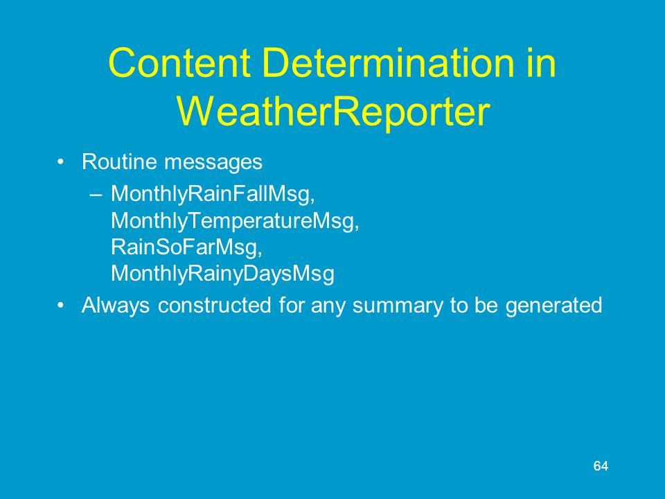 Content Determination in WeatherReporter
