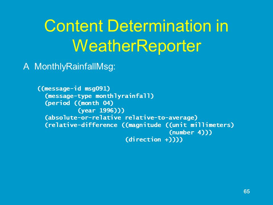 Content Determination in WeatherReporter