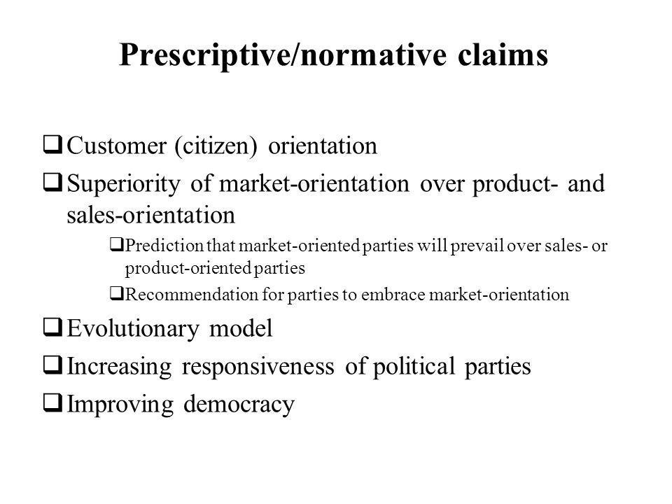 Prescriptive/normative claims