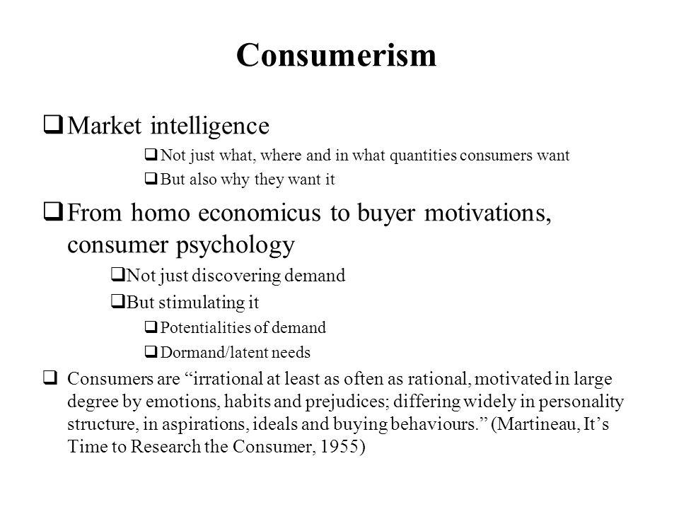 Consumerism Market intelligence