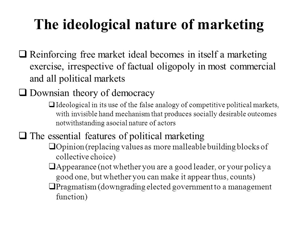 The ideological nature of marketing