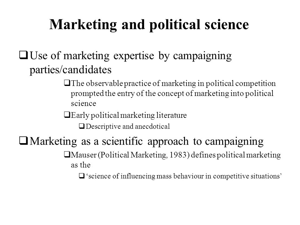 Marketing and political science