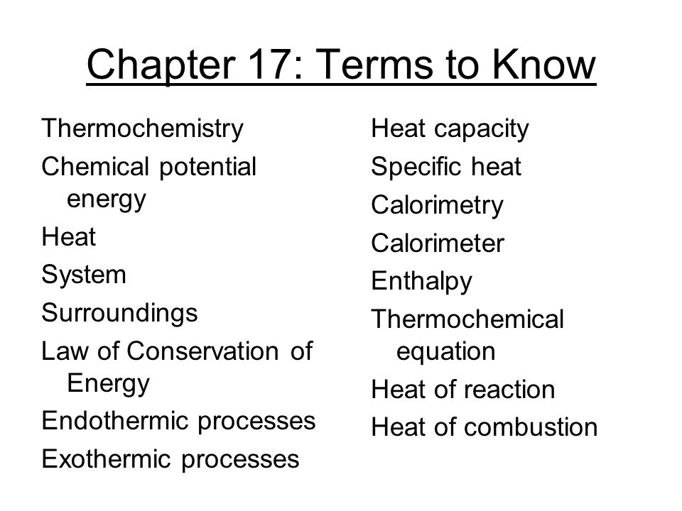 Chapter 17: Terms to Know