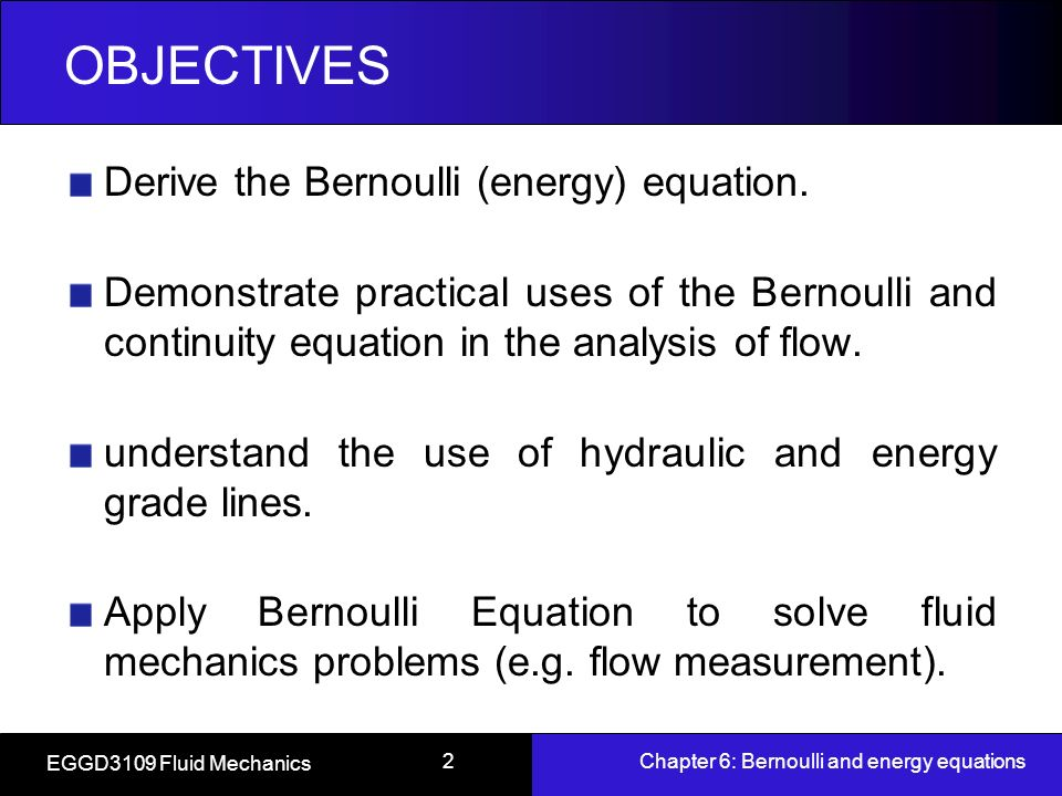 deriving venturi discharge formula from bernoulli The bernoulli equation: concept and derivation now, consider the movement of a particle along a pathline in an ideal fluid, and define distance along the pathline by a coordinate s .
