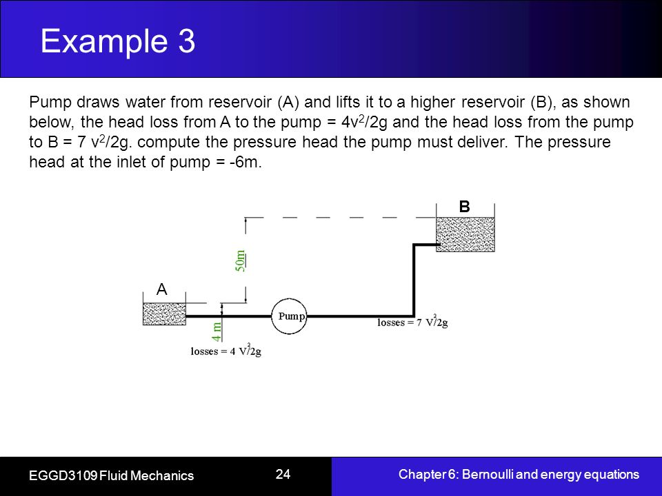 bernoulli 39 s equation pump. example 3 bernoulli 39 s equation pump