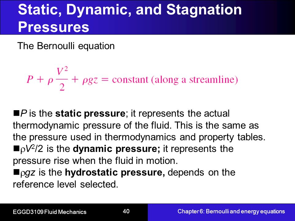 static pressure and dynamic pressure pdf