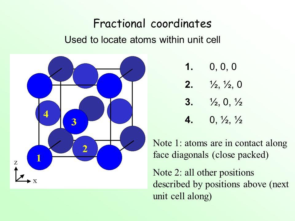 Fractional coordinates
