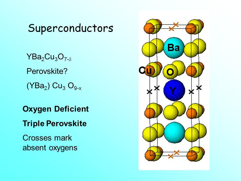 Superconductors YBa2Cu3O7- Perovskite (YBa2) Cu3 O9-x