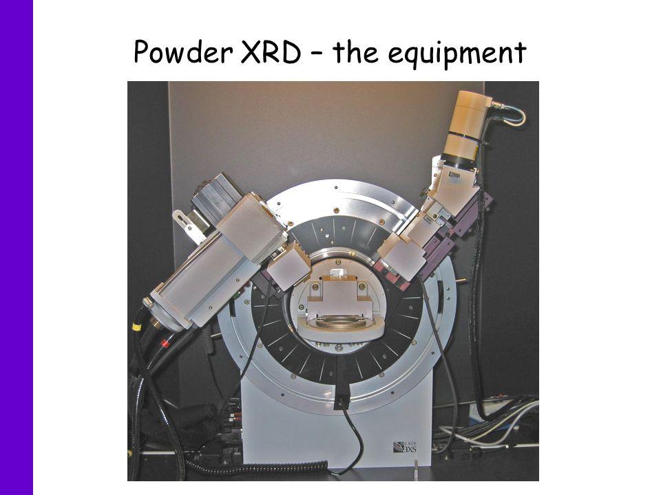 Powder XRD – the equipment