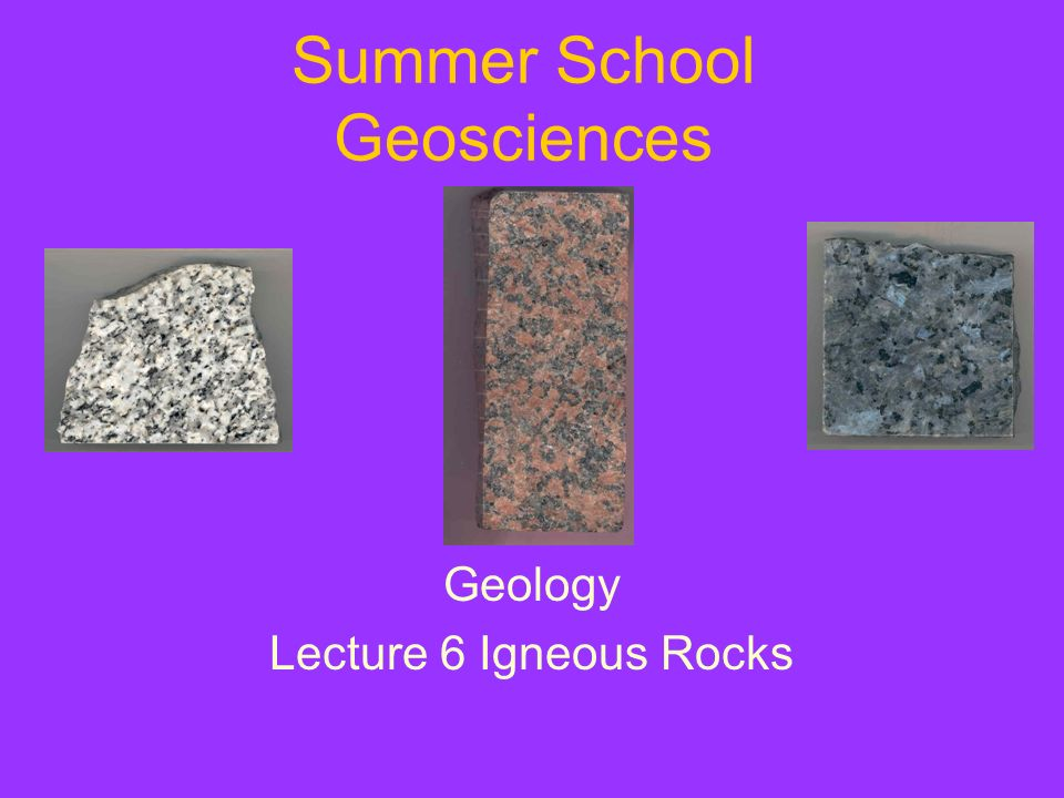 Summer School Geosciences
