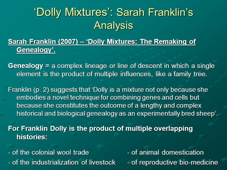 'Dolly Mixtures': Sarah Franklin's Analysis