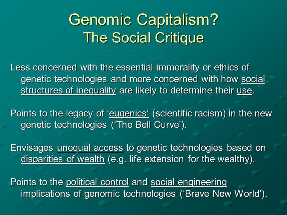 Genomic Capitalism The Social Critique
