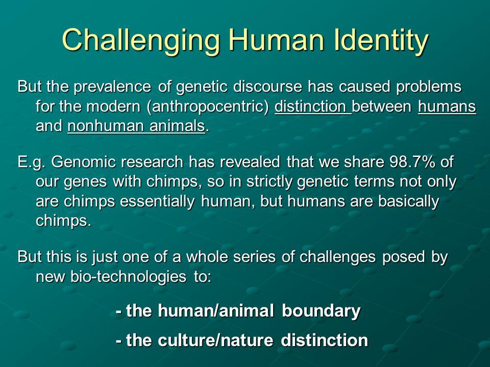 Challenging Human Identity