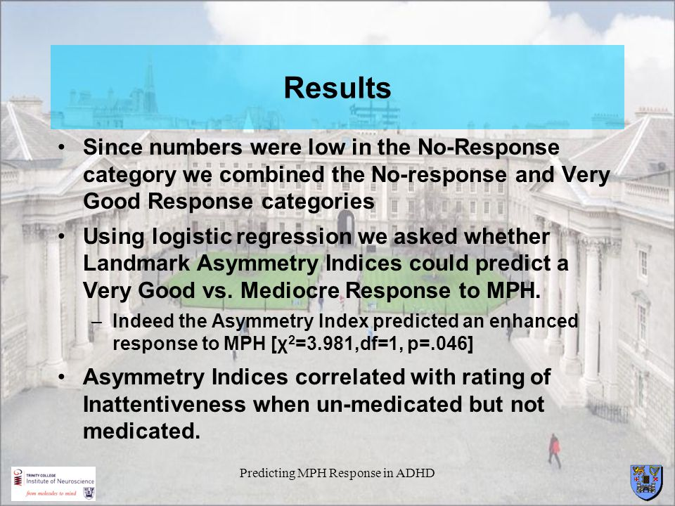 Predicting MPH Response in ADHD