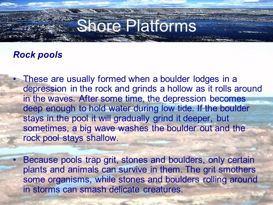 Shore Platforms Rock pools