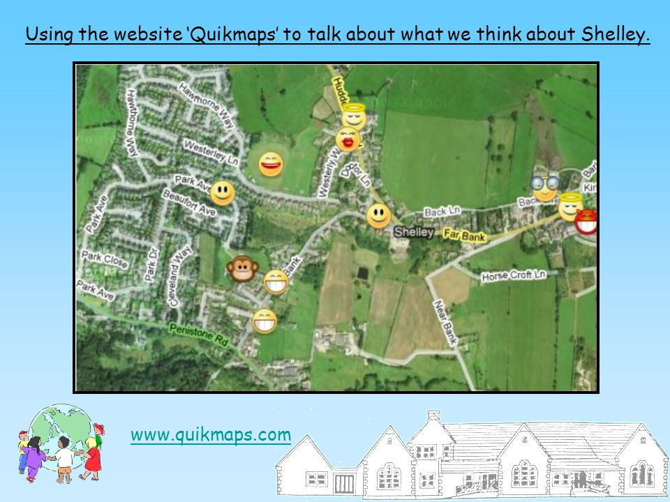 Using the website 'Quikmaps' to talk about what we think about Shelley.