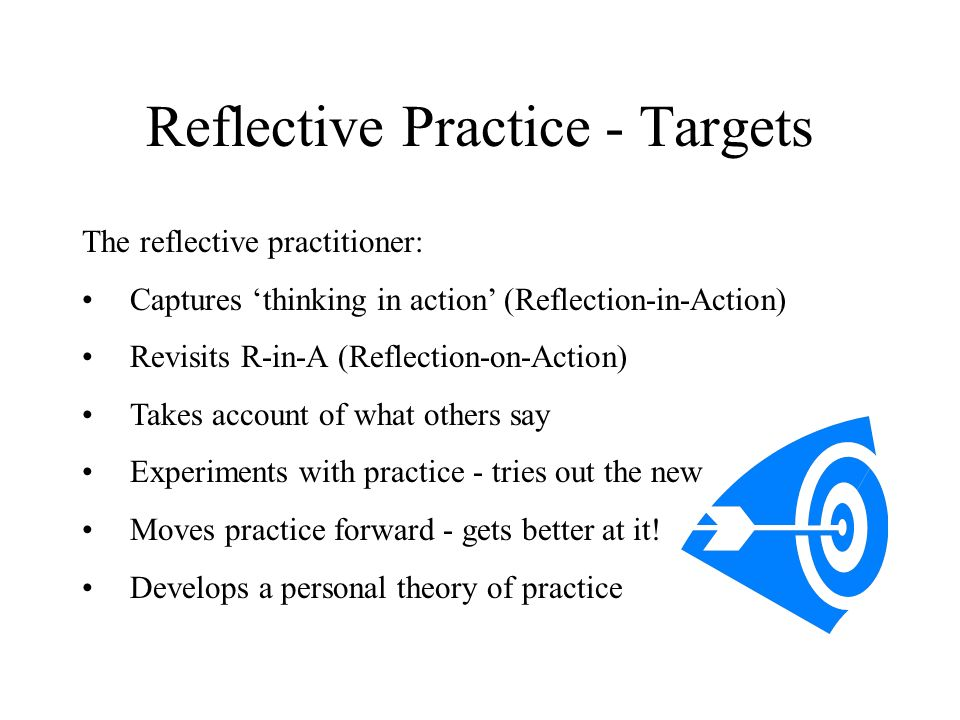 Reflective Practice - Targets