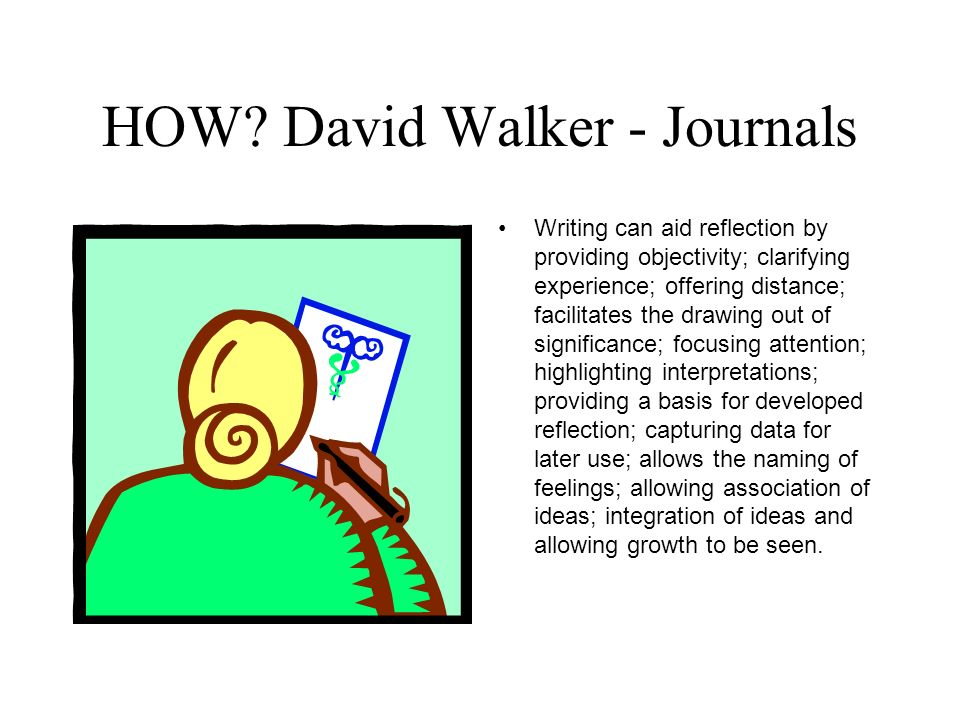 HOW David Walker - Journals