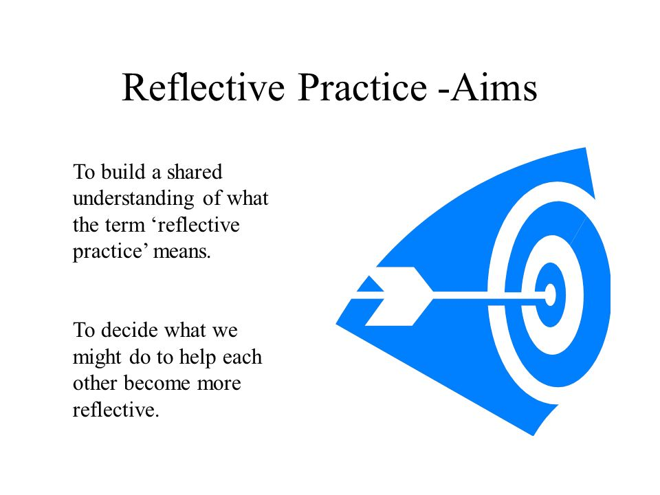 Reflective Practice -Aims