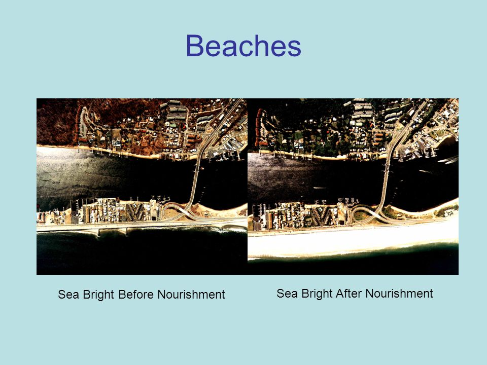 Beaches Sea Bright Before Nourishment Sea Bright After Nourishment