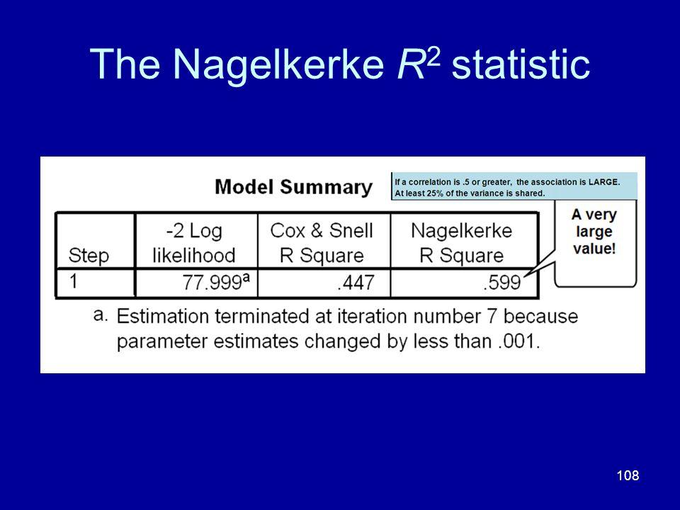 The Nagelkerke R2 statistic
