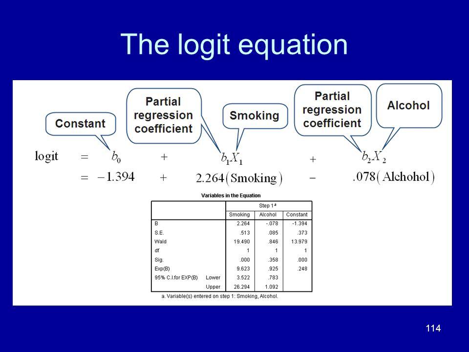 The logit equation