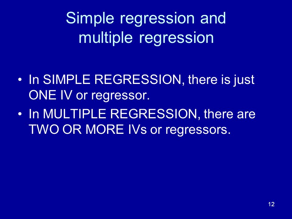 Simple regression and multiple regression