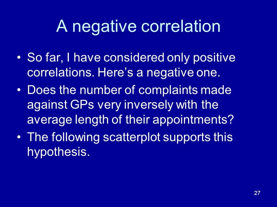 A negative correlation