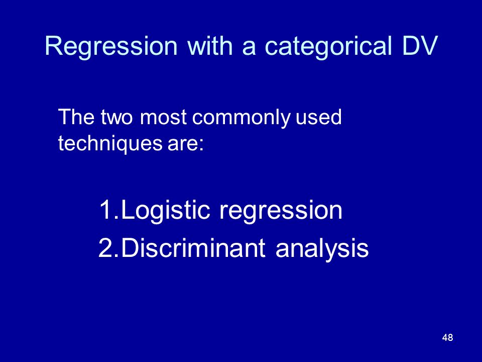 Regression with a categorical DV