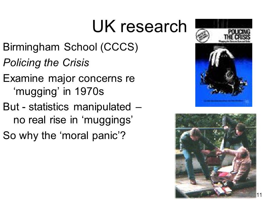 UK research Birmingham School (CCCS) Policing the Crisis
