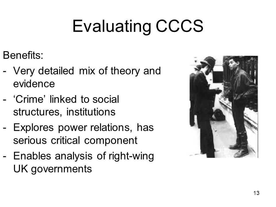 Evaluating CCCS Benefits: Very detailed mix of theory and evidence
