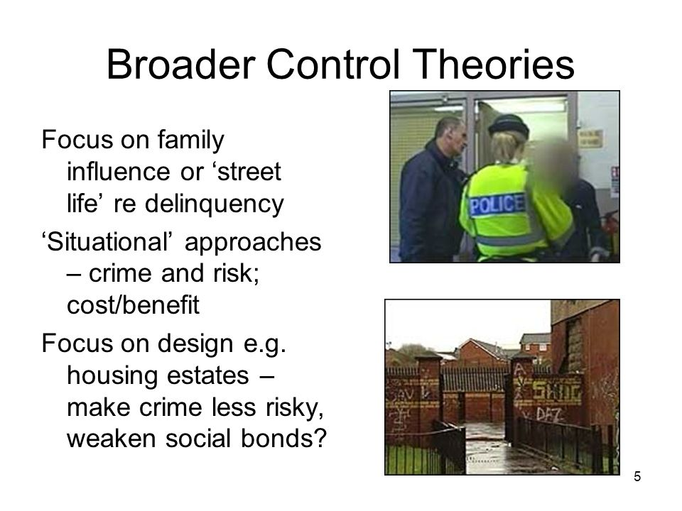 Broader Control Theories