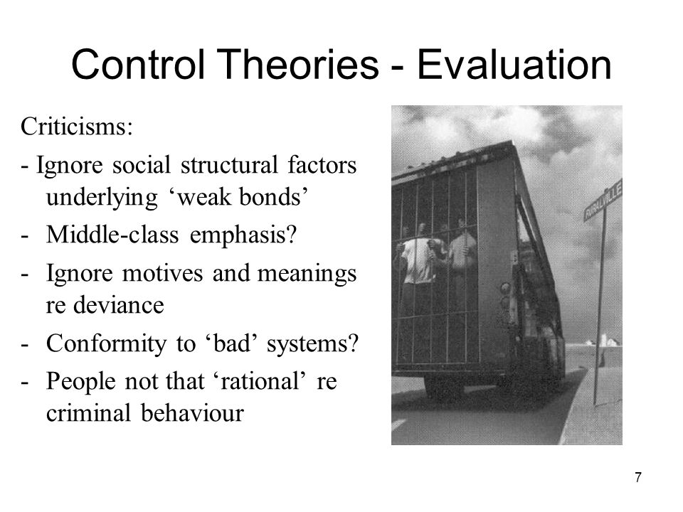 Control Theories - Evaluation