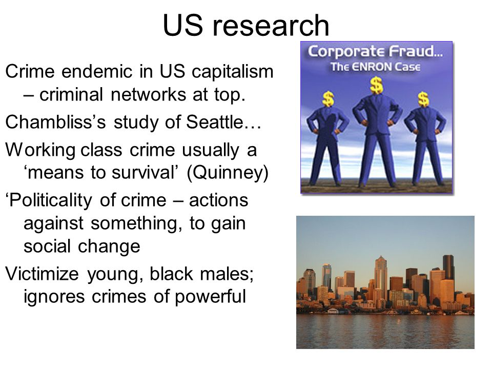 US research Crime endemic in US capitalism – criminal networks at top.