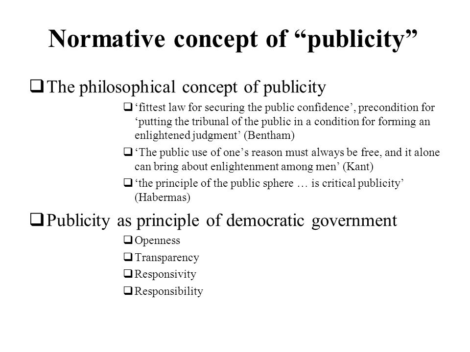 Normative concept of publicity