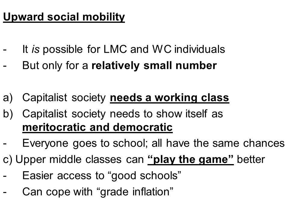 Upward social mobility