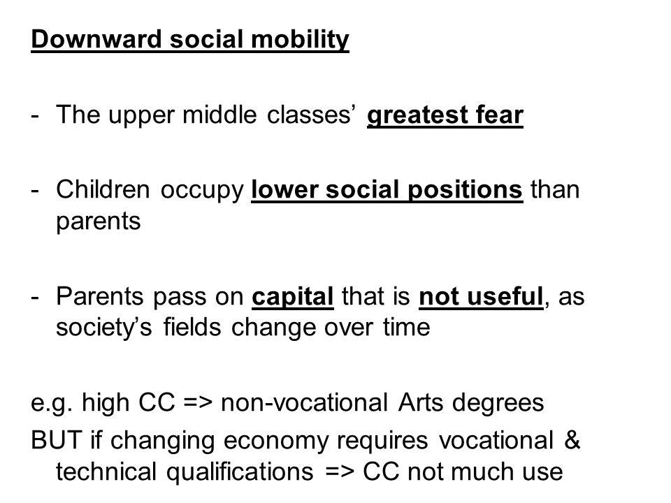 Downward social mobility