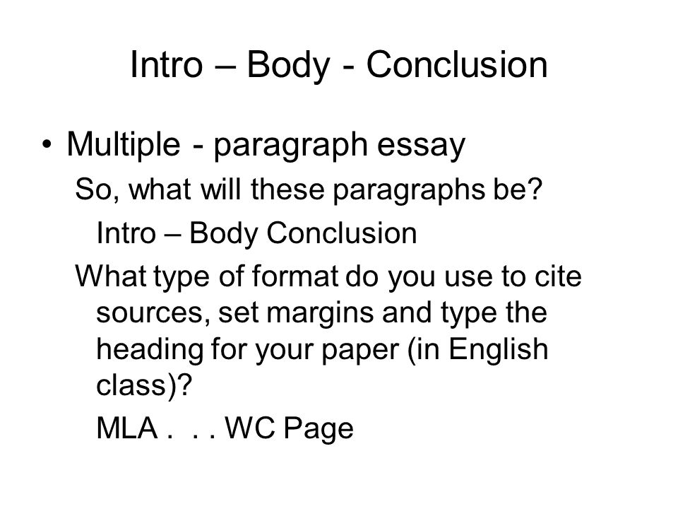 thesis body conclusion Creating a thesis statement & outline a body, and a conclusion in your outline you can make an outline in a list format or a chart format next chapter: 4.