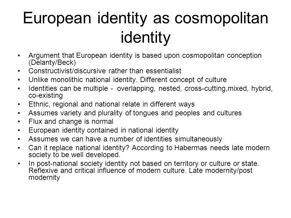 European identity as cosmopolitan identity