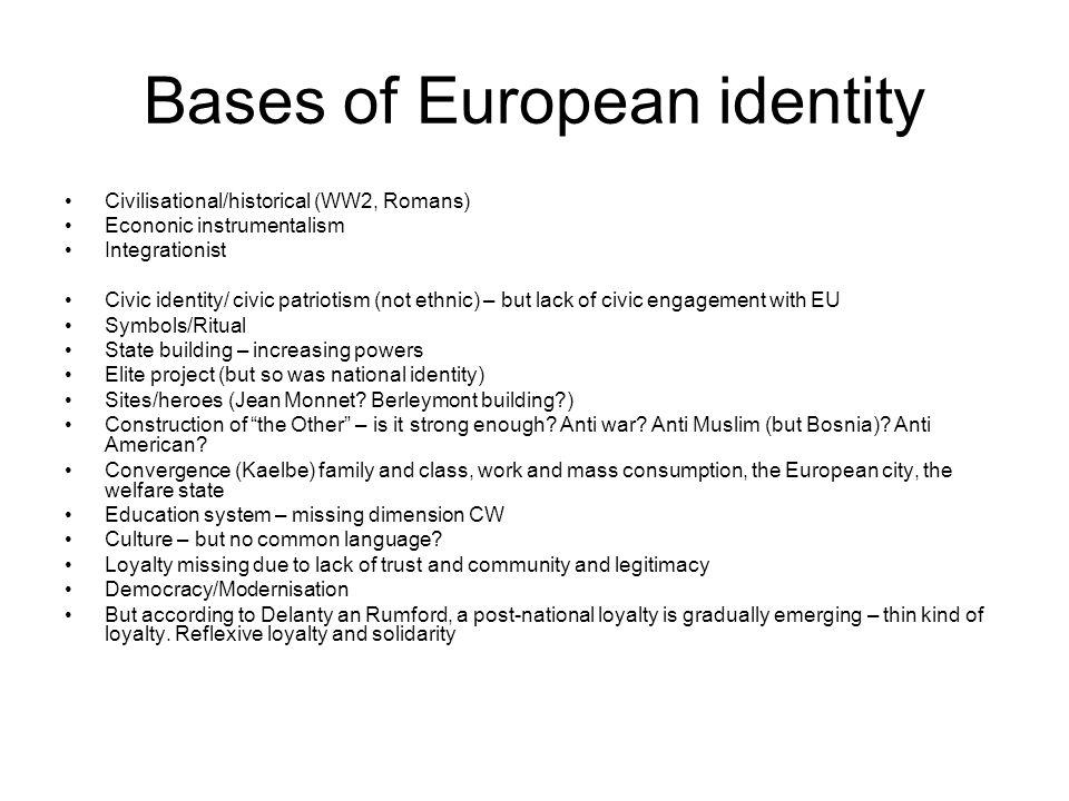 Bases of European identity