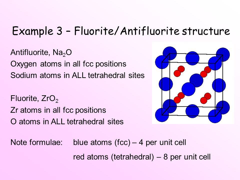 Example 3 – Fluorite/Antifluorite structure