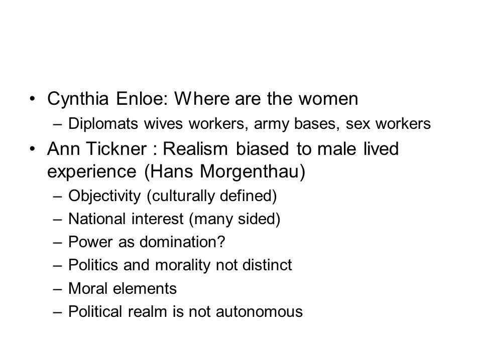 Cynthia Enloe: Where are the women
