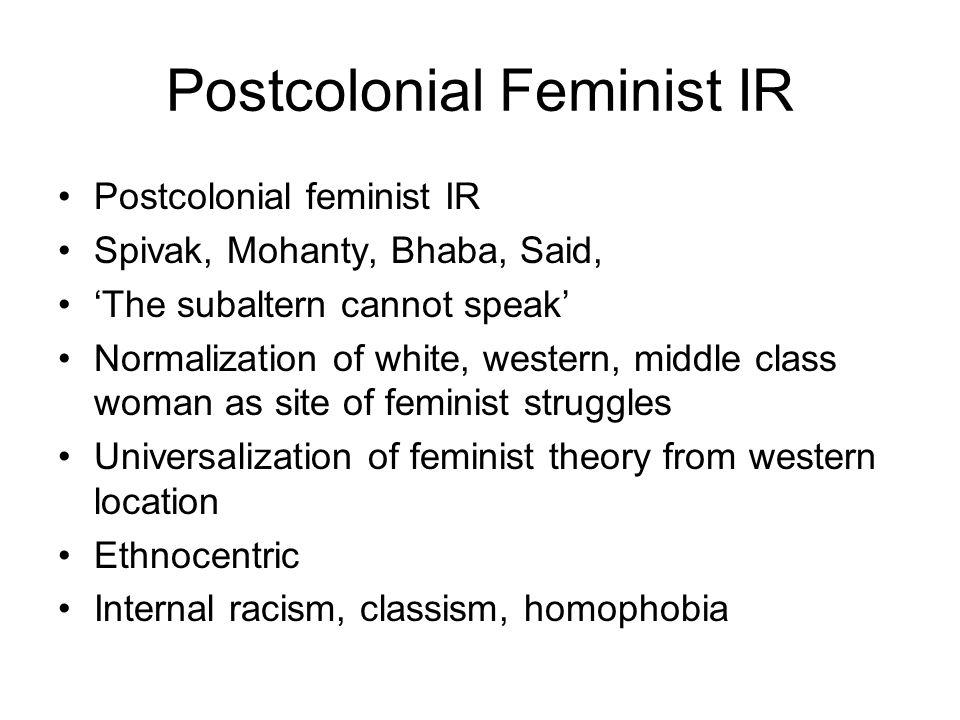 Postcolonial Feminist IR