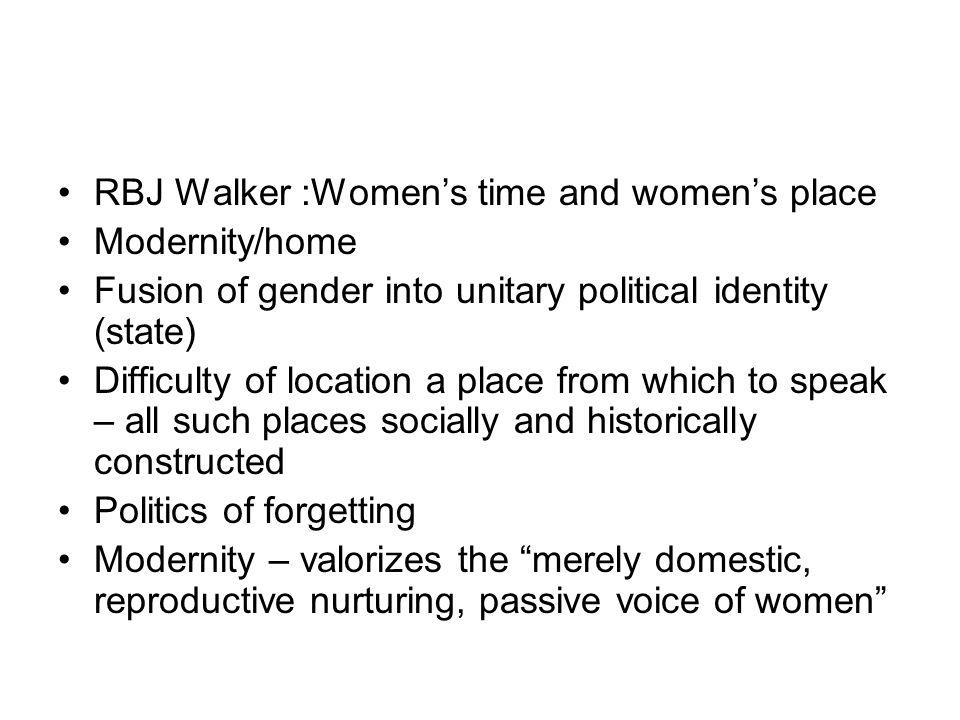 RBJ Walker :Women's time and women's place