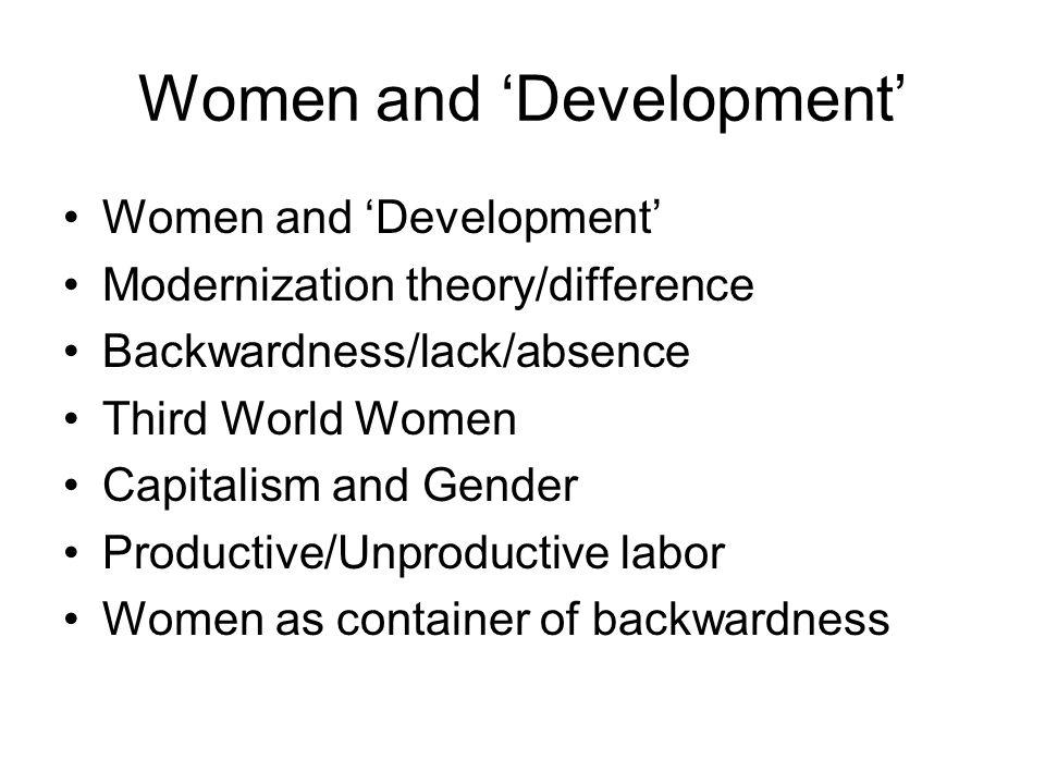 Women and 'Development'
