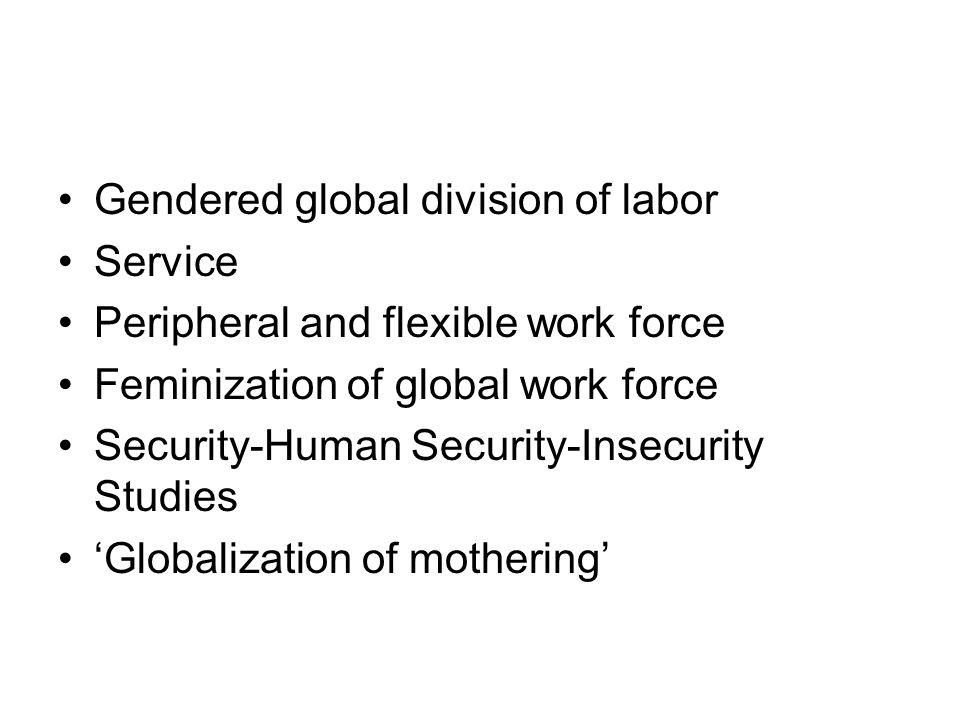 Gendered global division of labor
