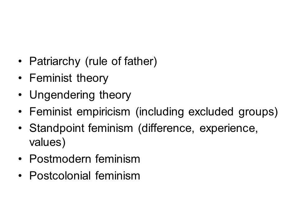 Patriarchy (rule of father)