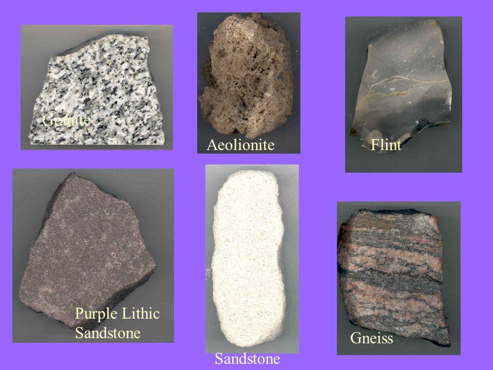 Granite Aeolionite Flint Purple Lithic Sandstone Gneiss Sandstone