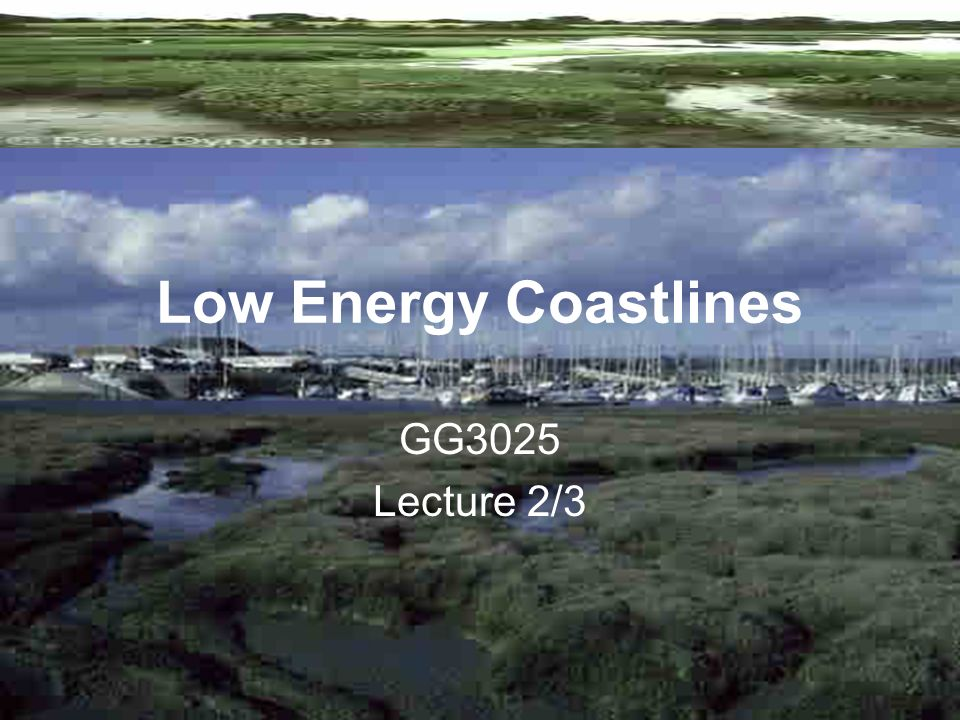 Low Energy Coastlines GG3025 Lecture 2/3