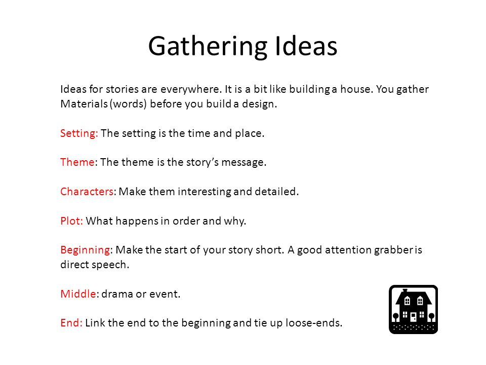 Stories gathering ideas creating characters mind mapping for How do you start building a house